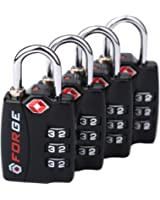 TSA Approved Luggage Locks, Alloy Body, Red Indicator, 1, 2, 4 & 6 Pack