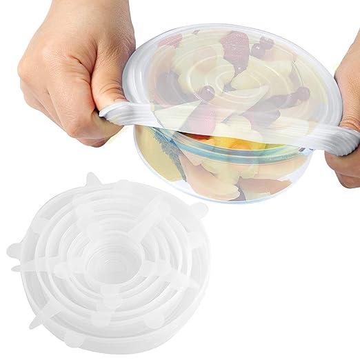 Tapas elásticas, 6 unidades de varios tamaños, tapas de silicona ...