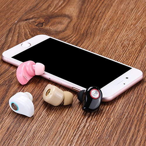 Mini Invisible Bluetooth Earbud,V4.1 Stereo Wireless Bluetooth Earphone with Built-in Mic, Sports Noise Cancelling In-ear Earphone For Iphone Samsung And Other Android Phones (black) by ESSOY (Image #5)