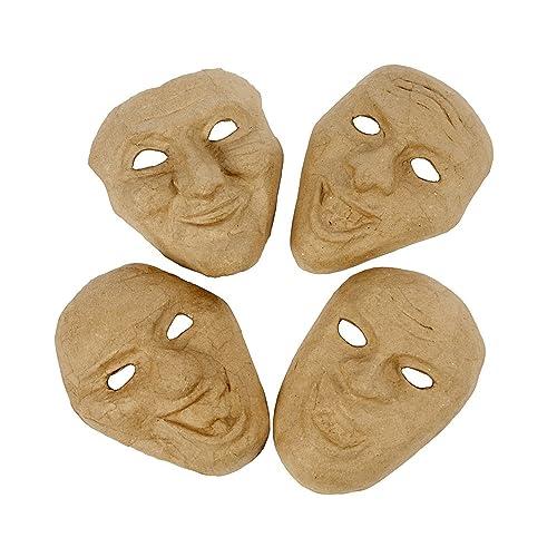 4 Theatre Emotion Paper Mache Masks