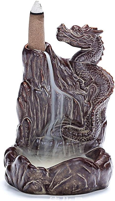 Kiss Me Drache Räucherstäbchenhalter Räuchergefäß Reflow Dragon Clay Brenner Keramik Handwerker Handgemachte Handwerk Kunst 90x50x150mm