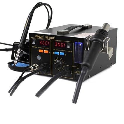 Italtronik – Estación de soldadura y desoldadura con soldador de aire caliente con aspirador de humos