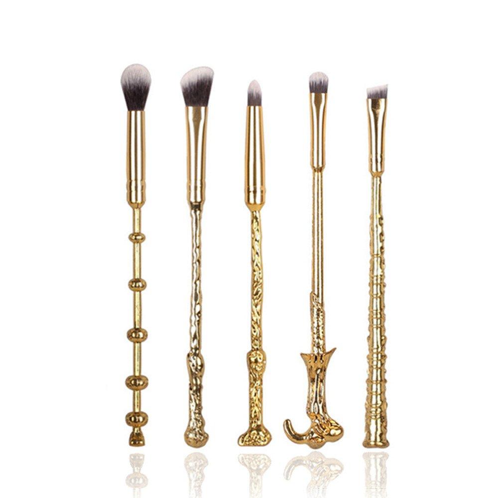 5pcs Pinceaux Brosses Maquillage cosmétique magic Harry Potter Collection Cadeau (Argenté) Dilla Beauty