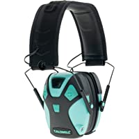 Caldwell E-Max Low Profile Electronic Hearing Protection with Sound Amplification 21-25 NRR - Adjustable Earmuffs for Shooting, Hunting and Range