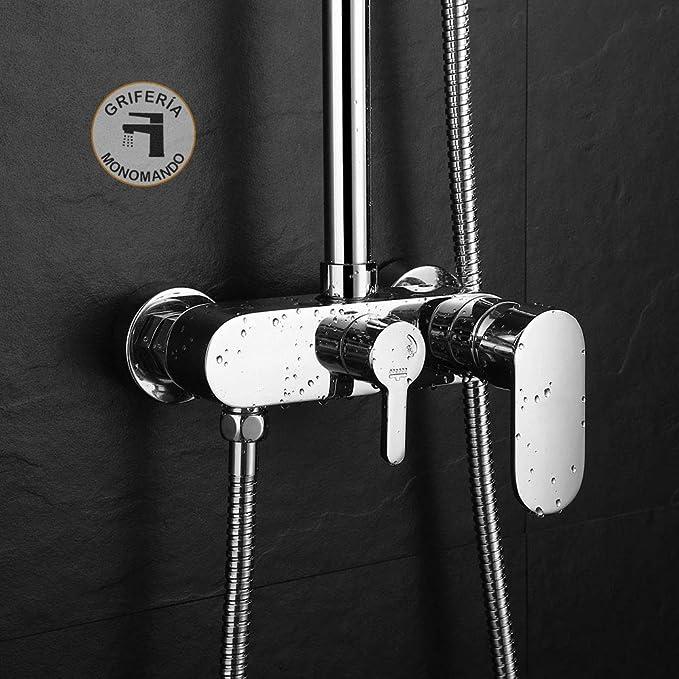 Grifo monomando CAN/VER compatible con la gran mayoría de columnas de ducha. Desviador integrado para cambiar de posición de ducha a rociador. Repuestos originales garantizados: Amazon.es: Bricolaje y herramientas