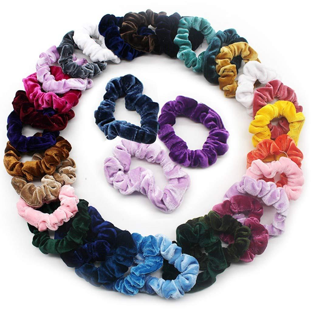 40 Pcs Hair Bands Hair Scrunchies Velvet Elastic Scrunchy Hair Ties Ropes Scrun