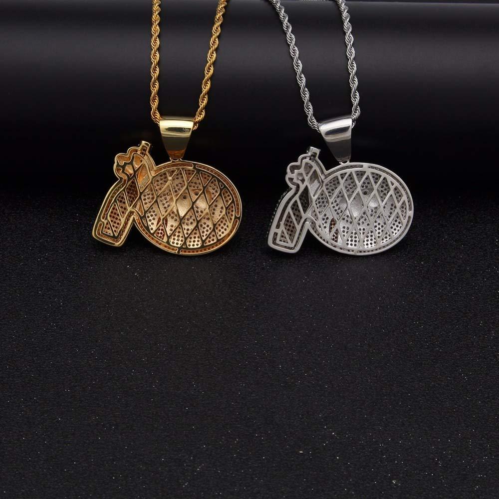 Length: 60cm Davitu New top Hiphop Jewelry Titanium Steel Gold Lion Pendant Necklace for Man