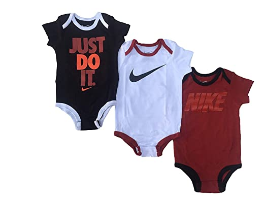 Baby Nike Swoosh Three-Piece Infant Baby Bodysuit Set Clothing