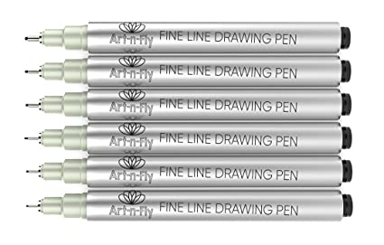 amazon com black fine tip inking pens for drawing archival ink pen
