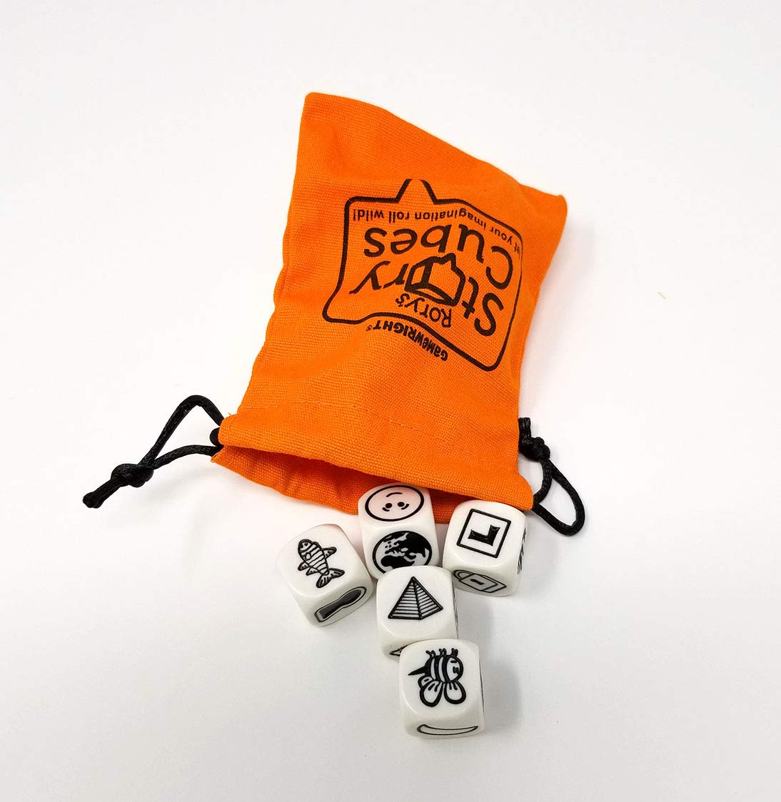 Rory's Story Cube Complete Set - Original, Actions, Voyages, Fantasia Games, & Drawstring Bag by Gamewright (Image #3)