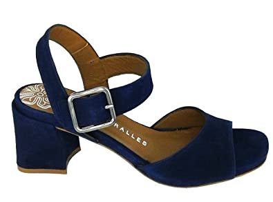 4ff5dbcd139c8f PEDRO MIRALLES Women s 18425 Sandals with Side Buckle Blue Suede ...