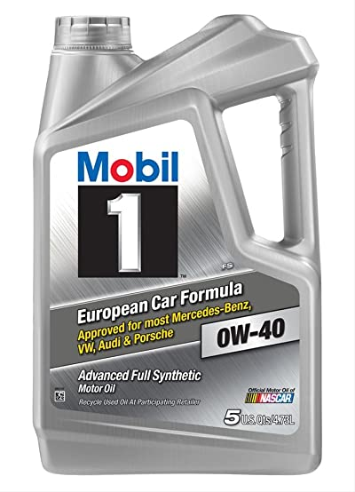 Mobil 1 120760 Synthetic Motor Oil 0W-40