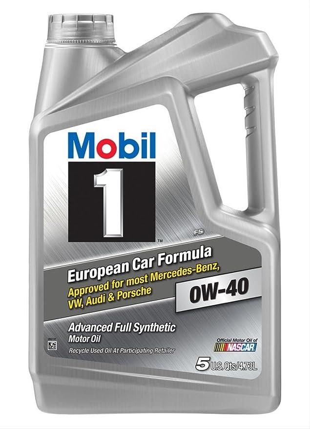 Mobil 1 153669 0 W-40 Motor de Gasolina y Diesel Aceite de Motor, 5 litros: Amazon.es: Coche y moto