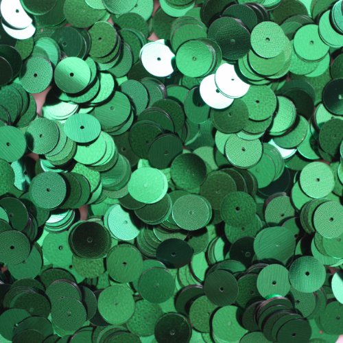 10 Mm Emerald Green - 10mm Flat Round SEQUIN PAILLETTES ~ EMERALD GREEN METALLIC ~ Loose sequins for embroidery, bridal, applique, arts, crafts, and embellishment. Made in USA.