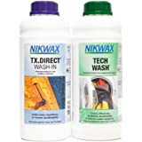 Nikwax Hardshell Tech Wash and TX Direct Twin Pack for Cleaning & Waterproofing Outdoor Wear