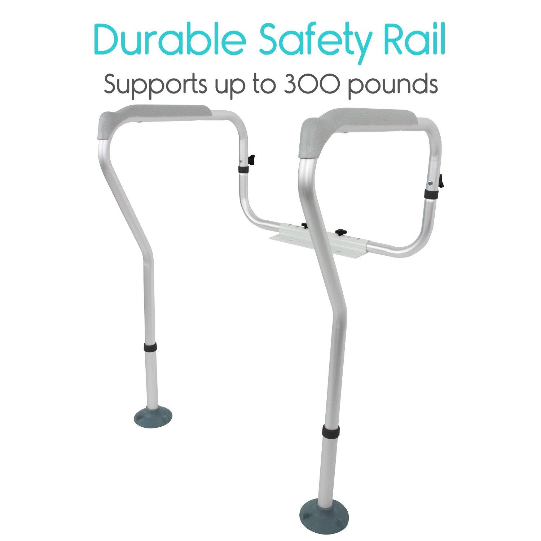 a809d89ce79 Vive Toilet Rail - Bathroom Safety Frame - Medical Railing Helper for  Elderly