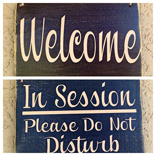 10×8 Two Sided: IN SESSION…Please Do Not Disturb / WELCOME (Choose Color) Rustic Shabby Chic Sign Review