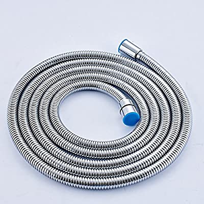 Rozin Extra Long Stainless Steel Handheld Shower Hose (8 Ft) (96 Inches) (2.45 Meters)