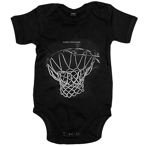 Body bebé I Love This Game canasta baloncesto jugones - Negro, 6 ...