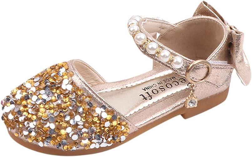 Hei/ßer Kinder Schuhe Pailletten Gummiband Einzelne Schuhe Kleinkind Niedlich Schuhe Prinzessin Schuhe Tanzschuhe Kinder Baby Kleinkind M/ädchen Pailletten Bling Schuhe