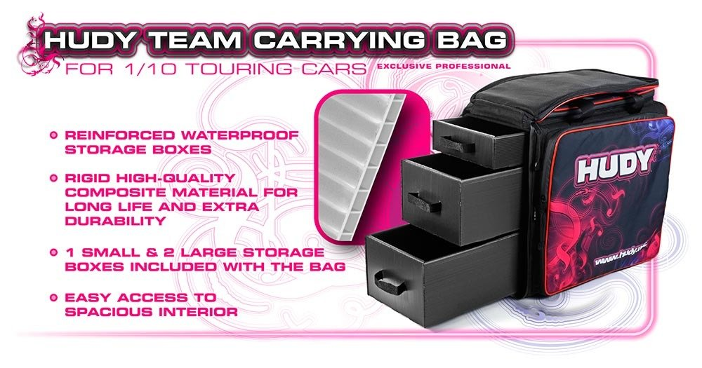 Hudy Exclusive Edition Carrying Bag w/Tool Bag (1/10 Touring)