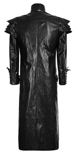 Lungo cappotto uomo in finta pelle Armatura guerriero gotico