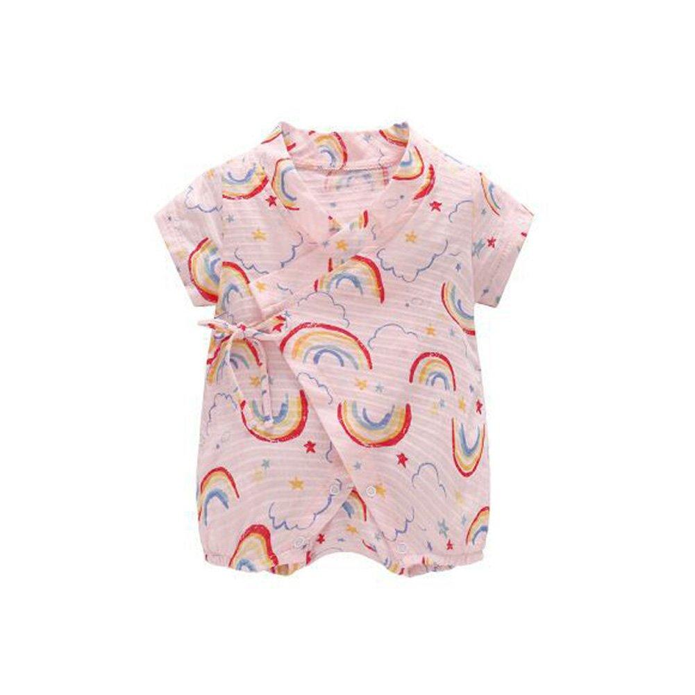 fairy baby Fée Bébé Garçon Barboteuse Style Japonais Body Bébé Kimono Rainbow Pattern Romper
