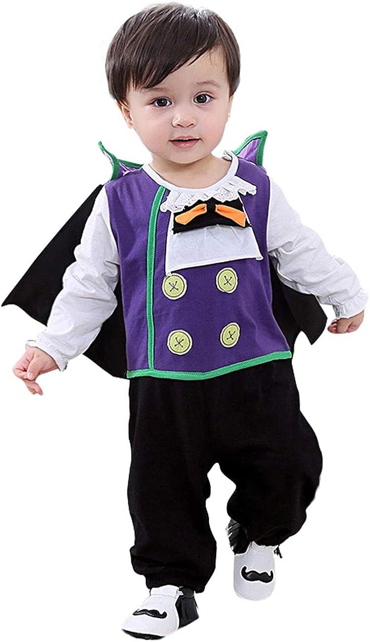 Mombebe B/éb/é Gar/çons Halloween Vampire Costume D/éguisement Barboteuse avec Cape