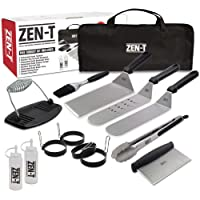 ZEN-T - 14 Piece Grill Griddle BBQ Tool Kit - Heavy Duty Professional Grade Stainless Steel BBQ Tools - Perfect Grilling Utensils for All Your Grilling Needs – Outdoor and Indoor BBQ Accessories