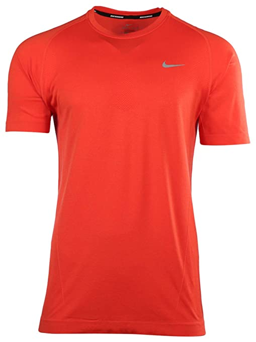 0edfb1a7 Image Unavailable. Image not available for. Color: Nike Men's Dri FIT Knit  Short Sleeve Running Shirt ...