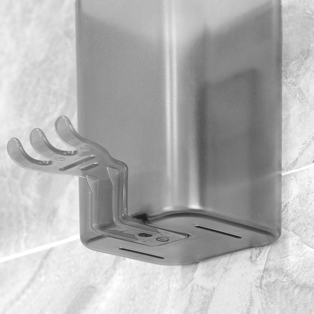 Toothbrush Holder Stainless Steel Toothpaste Holder Wall Mounted Bathroom DT