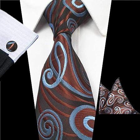 QEHWS Corbata Tie Set Corbata para Hombre Pañuelo Corbata para ...