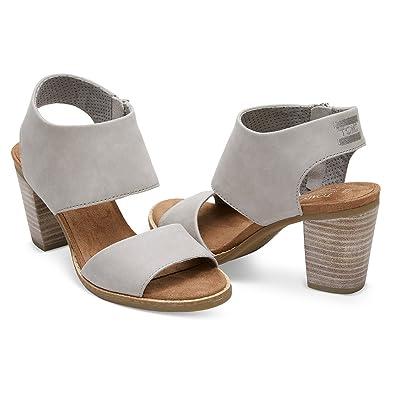 0281100df84 TOMS Women's Majorca Cutout Sandal Drizzle Grey Leather 11 B US