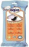 Aqua - Confezione da 12 guanti bagno con Shampoo senza Risciacquo