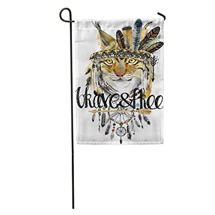 Amazon.com : Semtomn Garden Flag Lynx American Indian Chief ... on native indian garden, native indian sculpture, native indian home, native indian color, native indian table, native indian living rooms, native indian cleaning, native war bonnets, native indian landscaping, native american indian decorations, native indian theme, native indian vans, native indian products, native indian movies, native indian holiday, native indian technology, native indian before and after, native indian architecture, native indian trends, native indian dishes,