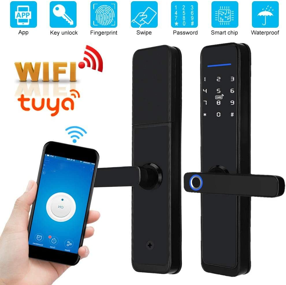 Homes Other Places Factory Villas for Access Control Mildew-Proof Human-Computer Interaction Waterproof Smart Remote Control Lock, Home Security Lock Taidda