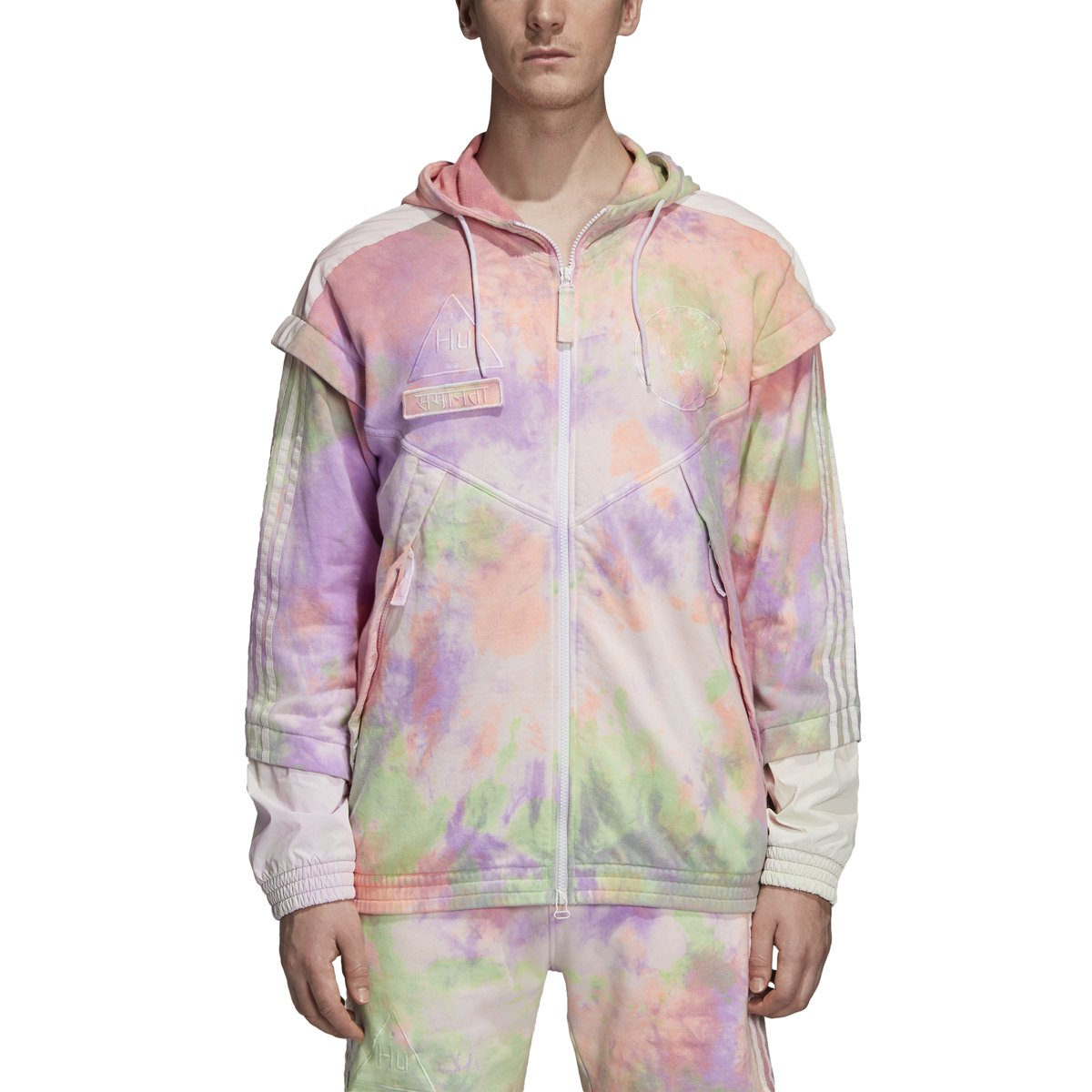 - Adidas Women's HU Holi FZ Hood Multi color White CW9413
