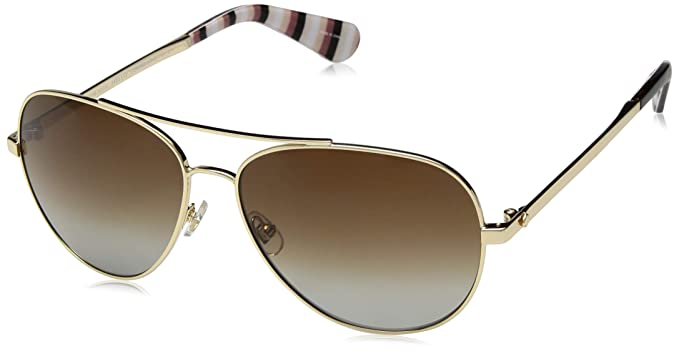 5ba8a7bd63 Amazon.com  Kate Spade Women s Avaline2 s Aviator Sunglasses Gold 58 ...