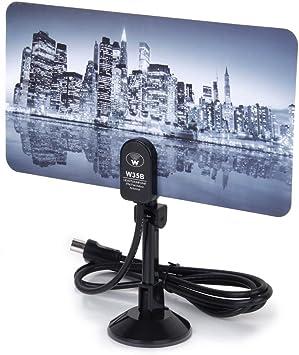 Antena de TV digital de señal hd 35dBi TV DTV plana antena ...