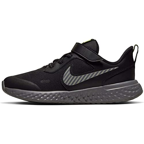 Nike Revolution 5 Hz Little Kids Running Shoe - Black/Reflect Silver-Gunsmoke-Volt CK1194-001