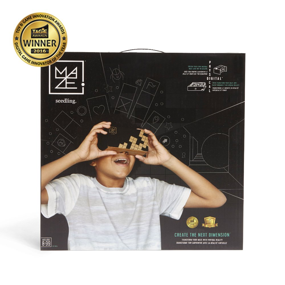 Seedling Design Your Own Marble Maze: Award Winning DIY Virtual Reality Game, Educational Stem Toy for Ages 8+ Year Olds, New Version