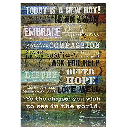 Creative Products Today is a New Day Wood Wall Art Print by Marla Rae 16 x ()