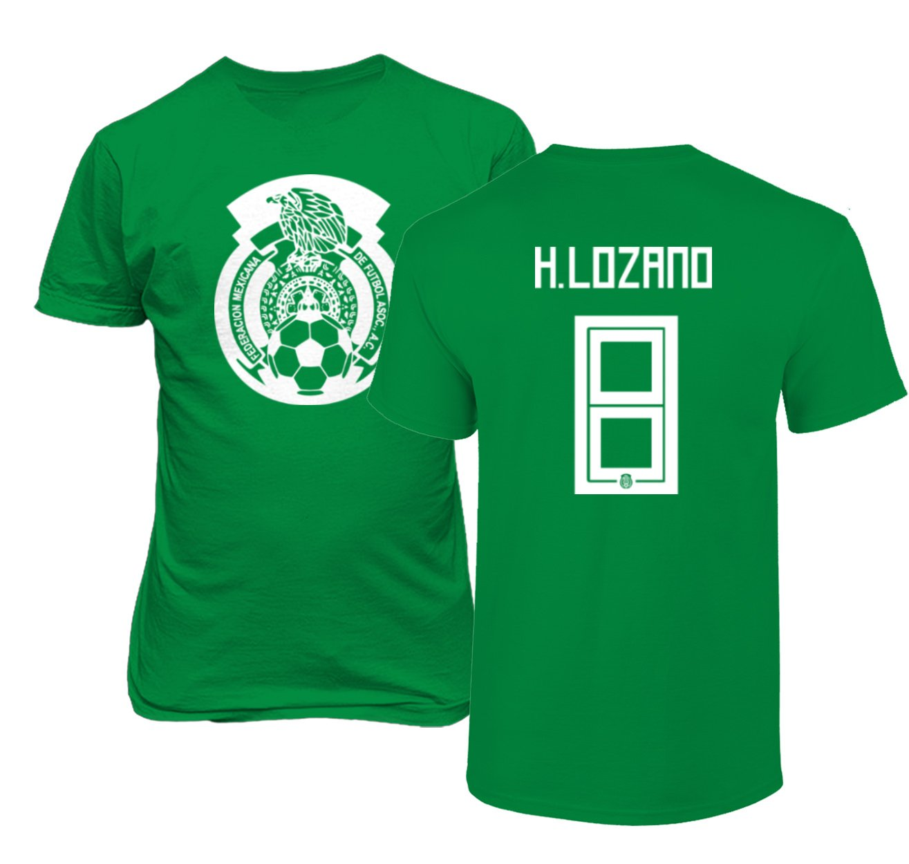 competitive price a6b80 560d2 Tcamp Mexico 2018 National Soccer #8 Hirving Lozano World Championship  Men's T-Shirt
