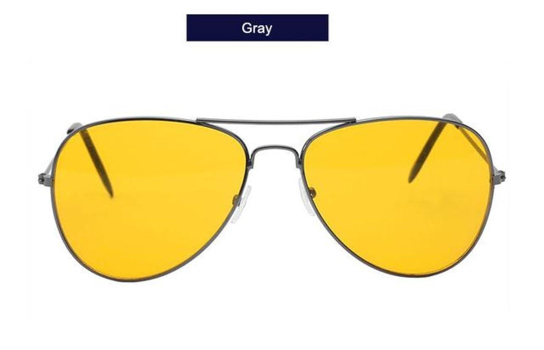 69ebefb501a Amazon.com  UVLAIK Aviation Night Vision Polarized Sunglasses Men Women  Goggles Glasses UV400 Sun Glasses Driver Night Driving Eyewear  Clothing