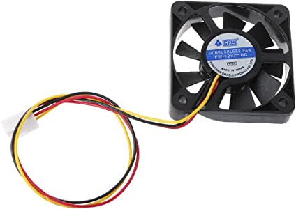 Mini 50mmx50mmx10mm DC 24V 2Pin Brushless Cooler 7-Blade Blower Cooling Fan 5010