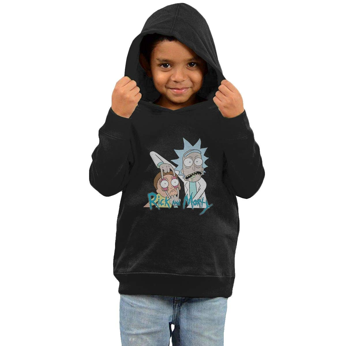 Stacy J. Payne Boys Rick and Morty Lovely Fleeces40 Black