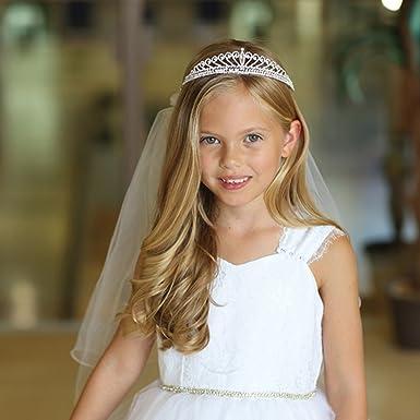 Amazon Com Angels Garment Girls White Pencil Edge Communion Flower