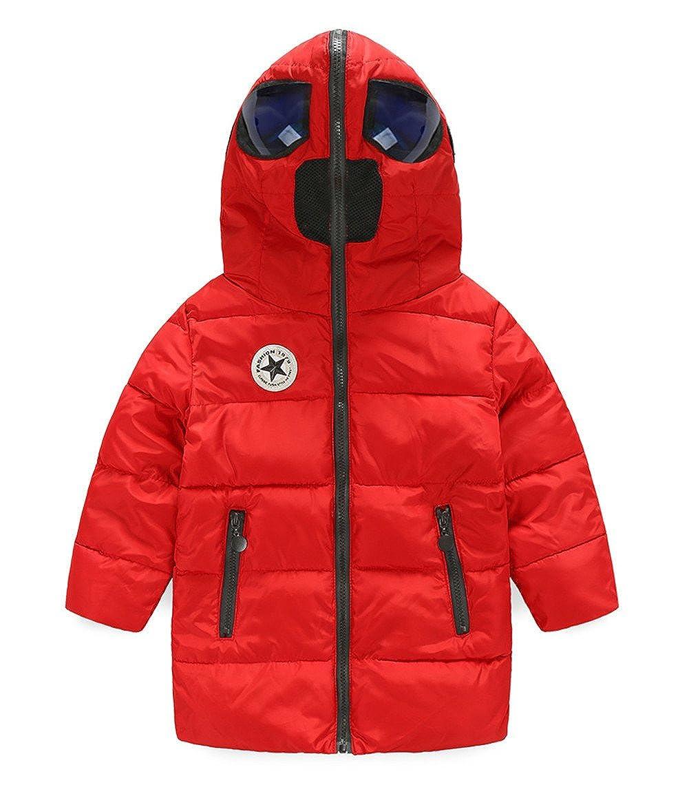 Cresay Boys' Jacket Hood Thicken Puffer Windproof Coat