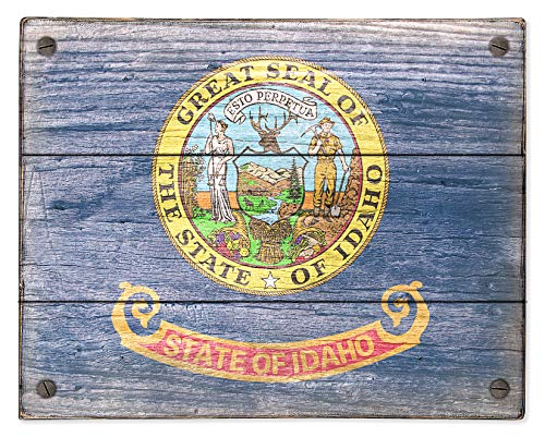 Idaho State Flag wood sign by delovely Arts ()