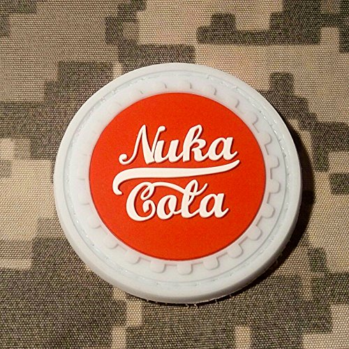[FALLOUT Nuka Cola PVC Rubber Morale Patch by NEO Tactical Gear Morale Patch - Hook Velcro Sewn On] (Work Out Video Star Costume)